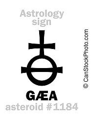 astéroïde, astrology:, gaea