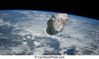 astéroïde, dangereux, approchant, terre planète