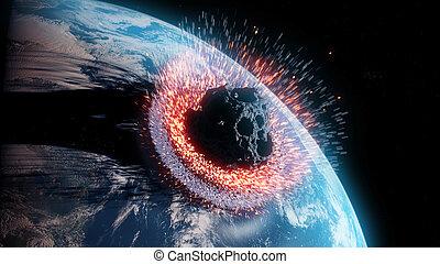 astéroïde, impacts, la terre