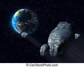 astéroïde, inquiétant