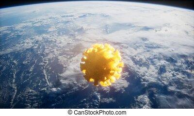astéroïde, la terre, covid-19, coronavirus