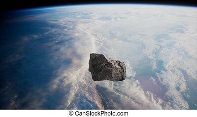 astéroïde, la terre, dangereux, planète, approchant