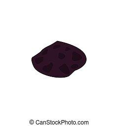 astéroïde, plat, icône, style, espace