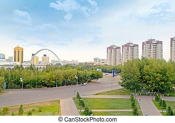 astana., 市の, 風景