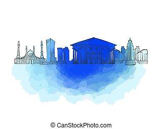 Astana Colorful Landmark Banner