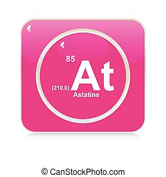 Isolated blackboard with periodic table astatine astatine button urtaz Image collections