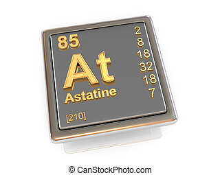 Astatine. Chemical element.