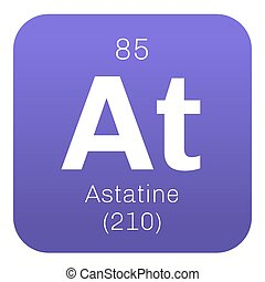 Periodic table element astatine icon periodic table element astatine chemical element urtaz Gallery