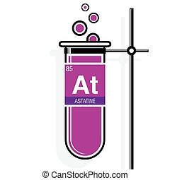 Chlorine symbol on label in a magenta test tube with holder clip astatine symbol on label in a magenta test tube with holder element number 85 of urtaz Gallery