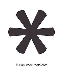asterisco, icono, señal, footnote
