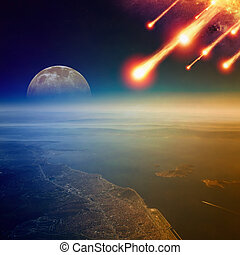 Asteroid impact, end of world, judgment day - Apocalyptic...