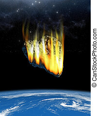 Asteroid on a collision course with Earth