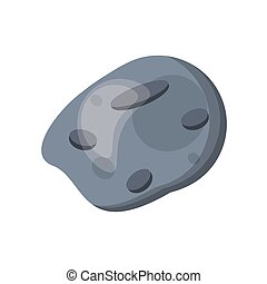 asteroid space stone danger vector illustration eps 10