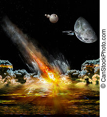 Asteroid strikes the earth