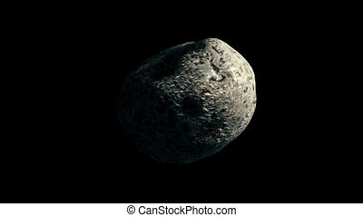 Asteroid with Transparency 1 - High quality clip of an...