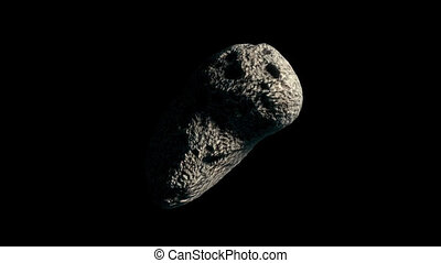 Asteroid with Transparency 3 - High quality clip of an...