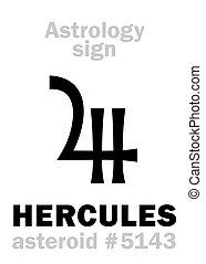 asteroide, astrology:, hércules, (heracles)