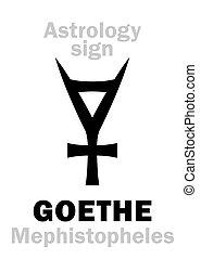 asteroide, (mephistopheles), no.3047, astrology:, goethe