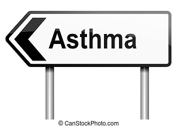 Asthma concept.