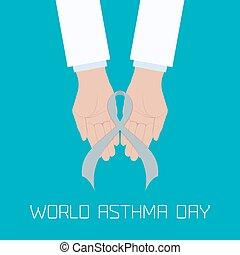 Asthma concept illustration