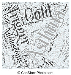 Asthma in Adolescents Word Cloud Concept