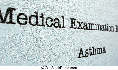 Asthma medical report
