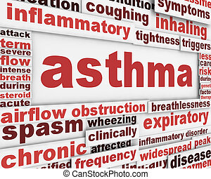 Asthma poster background. Health care poster design