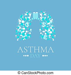 Asthma poster with lungs