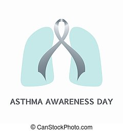 Asthma ribbon concept