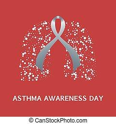 Asthma ribbon poster