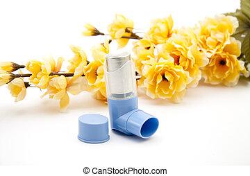 Asthma spray   - Asthma spray with flowering branch