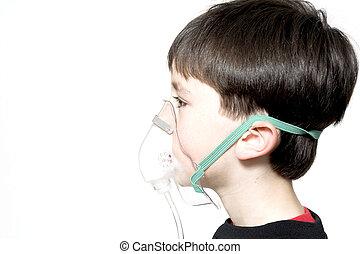 asthma - boy with asthma