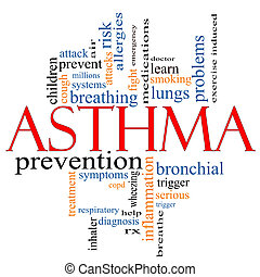 Asthma word cloud concept - An Asthma word cloud concept...