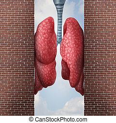 asthme, problème, santé