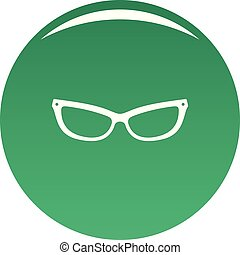 Astigmatic eyeglasses icon vector green