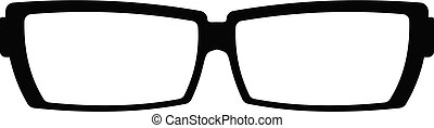 Astigmatic glasses icon, simple style.