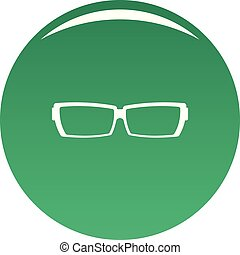 Astigmatic glasses icon vector green