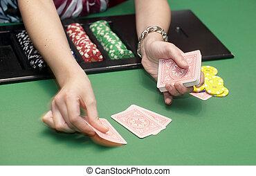 astilla, casino, tarjeta