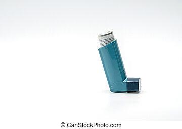 blå inhalator