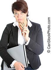 Astonished businesswoman