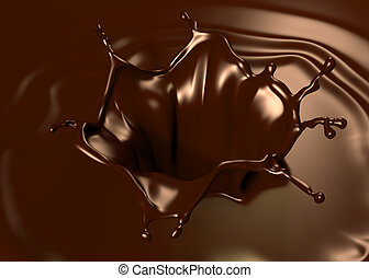 Astonishing chocolate splash. Clean, detailed render. Backgrounds series.