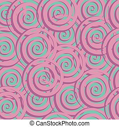 Astract seamless pattern with spiral.