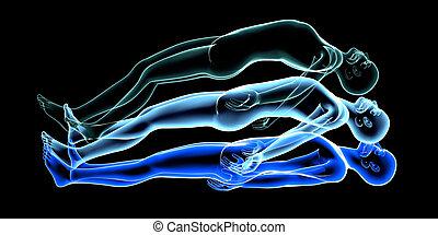Astral Projection - 3d rendered Illustration. Astral...