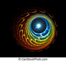 astral tunnel - Astral tunnel and bright white dot on the...