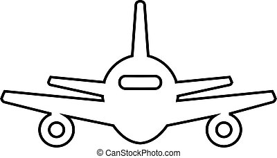 astratto, aereo, linea, icona