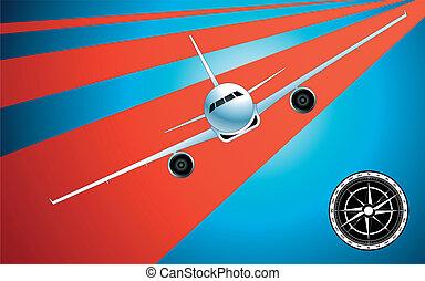 astratto, aeroplano, fondo