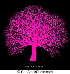 astratto, albero, fondo, creativo