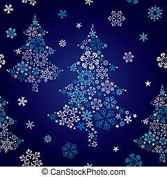 astratto, albero, seamless, fiocco di neve