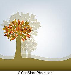 astratto, albero
