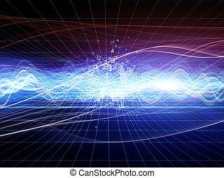 astratto, analizzatore, onda